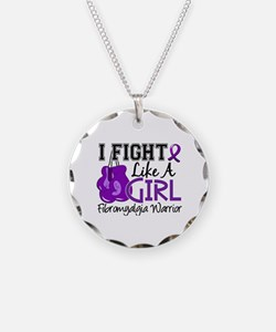 Licensed Fight Like a Girl 1 Necklace