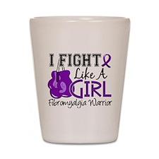 Licensed Fight Like a Girl 15.2 Fibromy Shot Glass