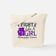 Licensed Fight Like a Girl 15.2 Fibromyal Tote Bag