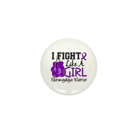 Licensed Fight Like a Girl 15.2 Fibrom Mini Button