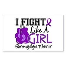 Licensed Fight Like a Girl 15. Decal