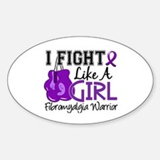 Licensed Fight Like a Girl 15.2 Fib Decal