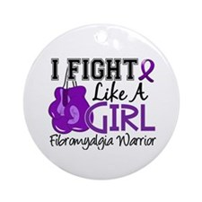 Licensed Fight Like a Girl 15.2 F Ornament (Round)