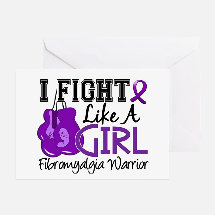 Licensed Fight Like a Girl 15.2 Fibr Greeting Card