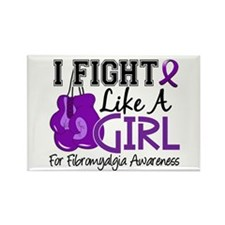 Licensed Fight Like a Girl 15.5 F Rectangle Magnet