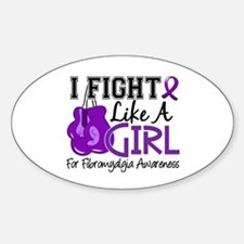 Licensed Fight Like a Girl 15.5 Fib Decal