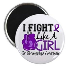 Licensed Fight Like a Girl 15.5 Fibromyalgi Magnet