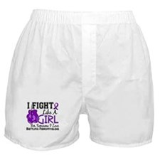 Licensed Fight Like a Girl 15.6 Fibro Boxer Shorts