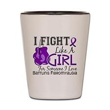 Licensed Fight Like a Girl 15.6 Fibromy Shot Glass