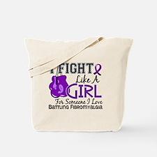 Licensed Fight Like a Girl 15.6 Fibromyal Tote Bag
