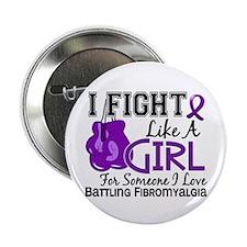 "Licensed Fight Like a Girl 15.6 Fibro 2.25"" Button"