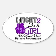 Licensed Fight Like a Girl 15.6 Fib Decal