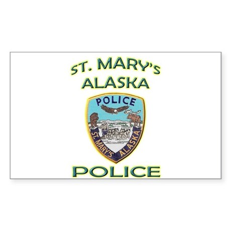 St. Mary's Police Department Sticker (Rectangle)