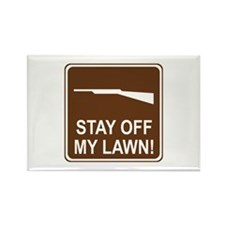 Stay Off My Lawn! Rectangle Magnet