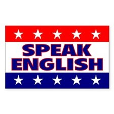 Speak English Rectangle Decal