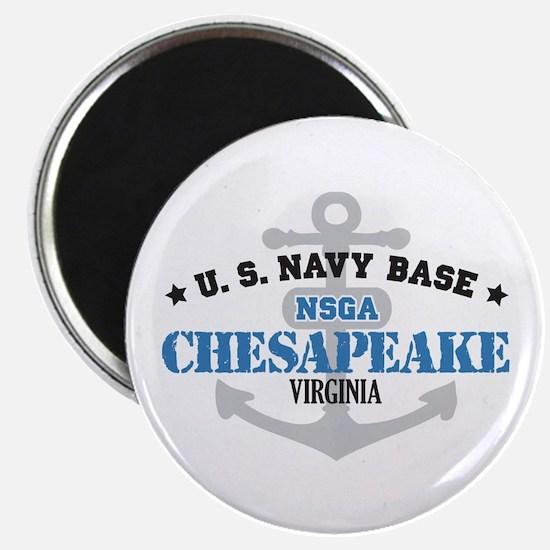 "US Navy Chesapeake Base 2.25"" Magnet (10 pack)"