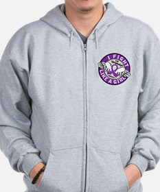 Licensed Fight Like a Girl 16.5 Fibromy Zip Hoodie