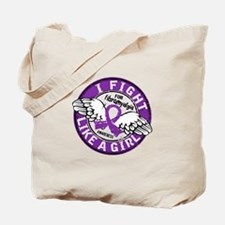 Licensed Fight Like a Girl 16.5 Fibromyal Tote Bag