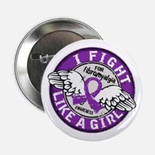 "Licensed Fight Like a Girl 16.5 Fibro 2.25"" Button"