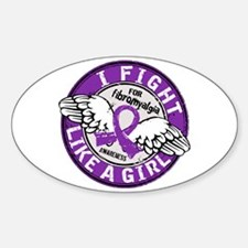 Licensed Fight Like a Girl 16.5 Fib Decal