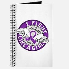 Licensed Fight Like a Girl 16.5 Fibromyalg Journal
