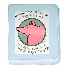 Singing Pig baby blanket