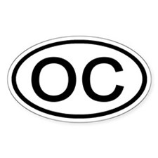 OC - Initial Oval Oval Decal