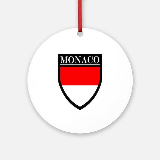 Monaco Flag Patch Ornament (Round)