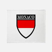 Monaco Flag Patch Throw Blanket