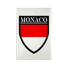 Monaco Flag Patch Rectangle Magnet