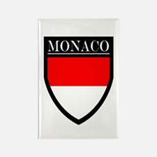Monaco Flag Patch Rectangle Magnet (10 pack)