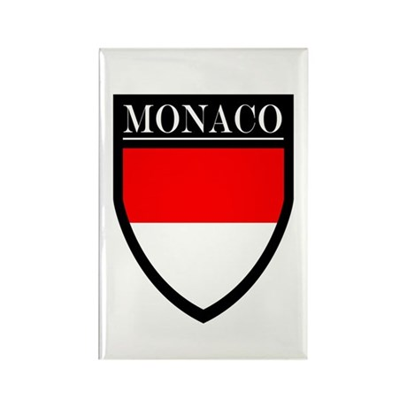 Monaco Flag Patch Rectangle Magnet (100 pack)