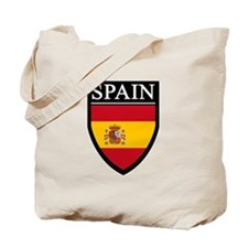 Spain Flag Patch Tote Bag