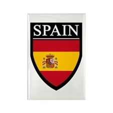 Spain Flag Patch Rectangle Magnet