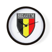 Belgium Flag Patch Wall Clock