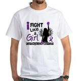 Fibromyalgia Mens White T-shirts