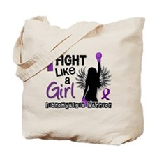 Licensed Fight Like A Girl 26.2 Fibromyal Tote Bag