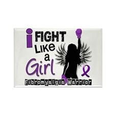 Licensed Fight Like A Girl 26.2 F Rectangle Magnet