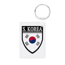 South Korea Flag Patch Keychains