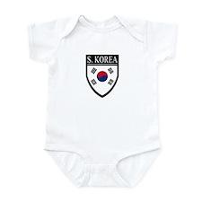 South Korea Flag Patch Infant Bodysuit