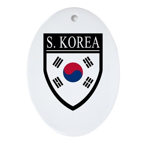 South Korea Flag Patch Ornament (Oval)