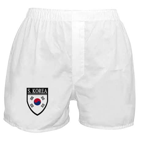 South Korea Flag Patch Boxer Shorts