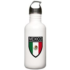 Mexico Flag Patch Water Bottle