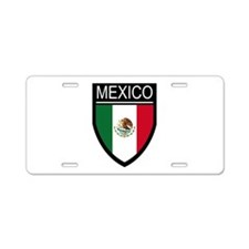 Mexico Flag Patch Aluminum License Plate