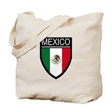 Mexico Flag Patch Tote Bag
