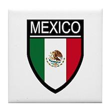 Mexico Flag Patch Tile Coaster