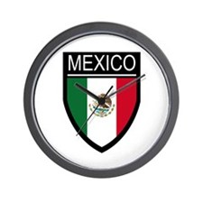 Mexico Flag Patch Wall Clock
