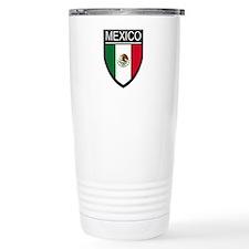 Mexico Flag Patch Travel Mug