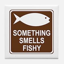 Something Smells Fishy Tile Coaster
