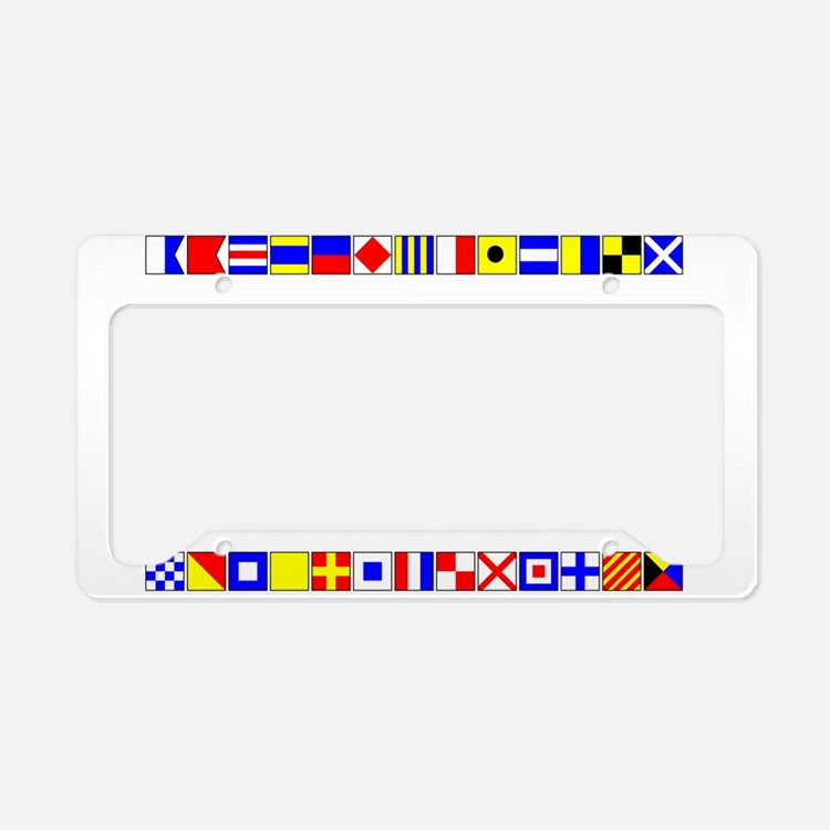 Cruise Signal Flags-b License Plate Holder